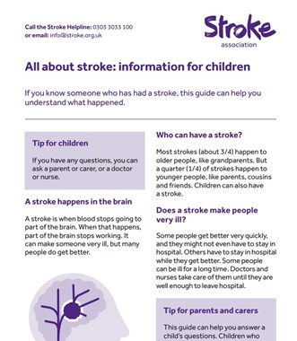 All About Stroke: Information for Children